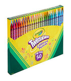Crayola Twistables Colored Pencils, Great for Coloring Books, 50 Count, Gift (2 Pack)