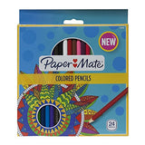 Paper Mate Pre-Sharpened Wood Colored Pencils, Break-Resistant, Assorted, Pack of 24