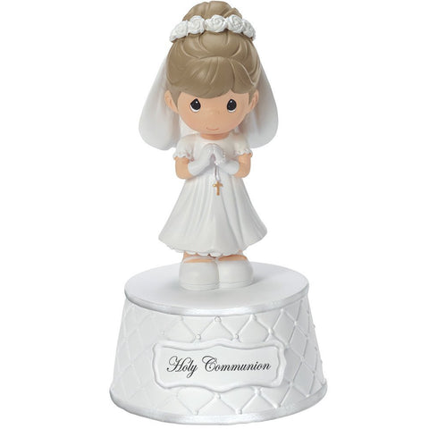 Precious Moments, Holy Communion Music Box, Plays: The Lord's Prayer, Resin, For Girl, 153502