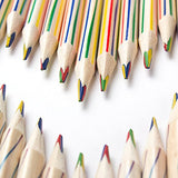 ThEast 60 PCS Rainbow Color Pencils 4-in-1 Color Pencils Assorted Colors for Art Drawing, Coloring, Sketching,Pencils For Drawing Stationery,Pre-sharpened