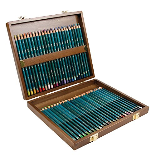 Derwent Artists Color Pencils, 4mm Core, Wooden Box, 48 Count (0700643)
