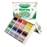Washable Classpack Markers, Broad Point, Assorted, 200/Box, Sold as 1 Box