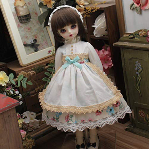 HMANE BJD Clothes 1/6, Pastoral Floral Printed Dress for 1/6 BJD Dolls (No Doll)