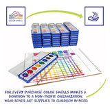 36 Set Watercolor Paint Pack with Quality Wood Brushes 8 Colors Washable Water Colors Perfect for