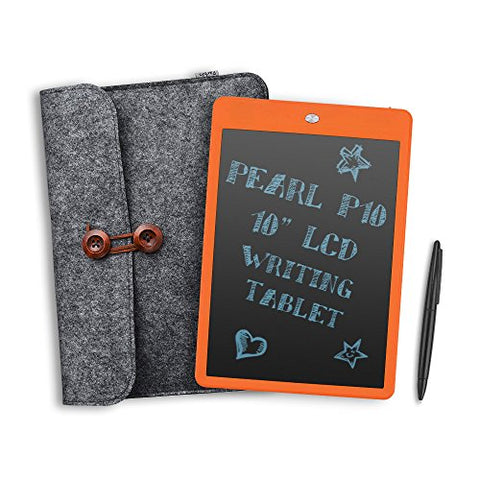"Parblo Pearl P10 10"" LCD Writing Tablet Drawing Board Paperless Notepad (Orange)"