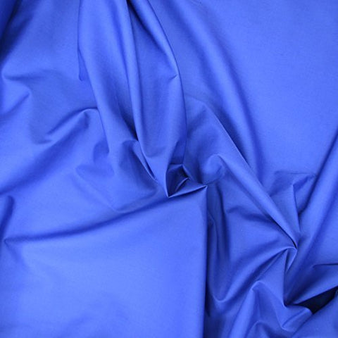 "1 X Royal Blue 60"" Wide Premium Cotton Blend Broadcloth Fabric By the Yard"