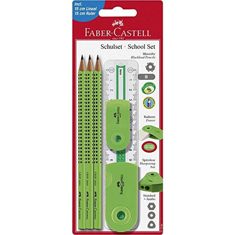 Faber Castell 217066 Large Pencil-Set with Ruler - Lime Green