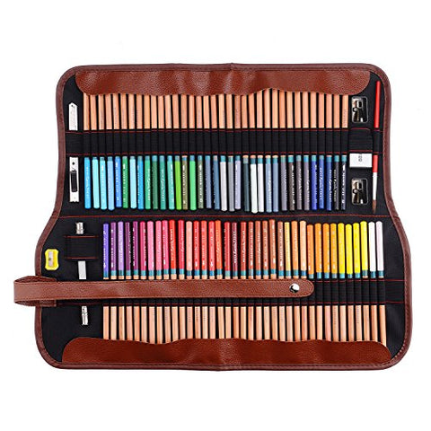 Marco Renoir Fine Art 72 Water Color Drawing Pencils +Eraser +pencil extender Set With Metal Tin
