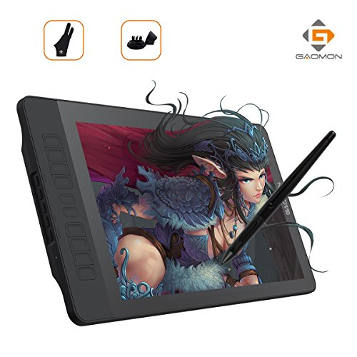 GAOMON PD1560 15.6 Inch 8192 Levels IPS HD Screen Drawing Monitor Pen Display with 10 Shortcut Keys
