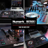 Numark Mixtrack 3 | All-In-One 2-Deck DJ Controller for Serato DJ Including an Long-Throw Pitch Faders, 5-inch High Resolution Jog Wheels and Virtual DJ LE & Prime Loops Remix Tool Kit