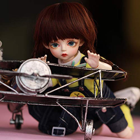 "1/6 BJD Doll Full Set 30cm 11.81"" Ball Jointed 100% Handmade Girl SD Dolls Toy Action Figure with Clothes Wigs Socks Shoes Makeup"