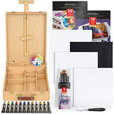 Arteza Large Acrylic Art Set, Artist Painting Kit Includes Art Paint, Canvases, Paper Pads, Brushes, Easel, Art Supplies Painting Bundle for Professional Artists, Kids, Teens and Adults