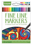 Crayola Fineline Markers 24 Vibrant Colors with Fine Tips Classic & Contemporary Pack