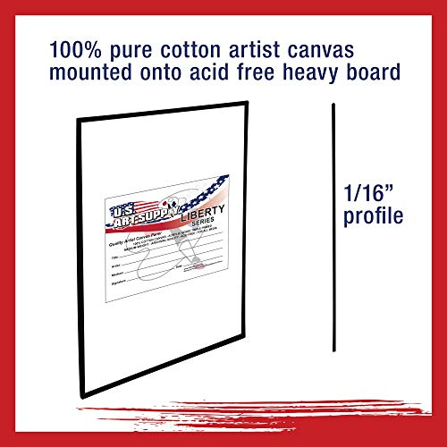 1 Full Case of 6 Single Canvas Panels US Art Supply 5 X 7 inch Black Professional Artist Quality Acid Free Canvas Panels 6-Pack