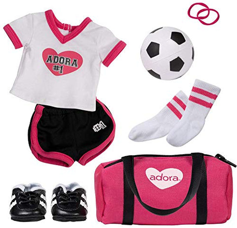 Adora Amazing Girls Soccer Outfit for 18 Dolls (Amazon Exclusive)