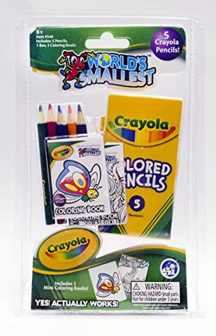 Worlds Smallest Crayola Color Pencil Coloring Book Set, Multi  (548)