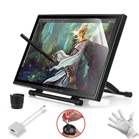 "Ugee 19"" Graphics Drawing Tablet Pen Tablet Monitor with Screen Protector and Mini Displayport DP"