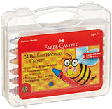 Faber-Castell Beeswax Crayons in Durable Storage Case, 24 Vibrant Colors