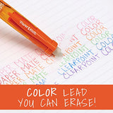 Paper Mate Clearpoint Color Lead and Eraser Mechanical Pencil Refills, 0.7mm, Assorted Colors, 6