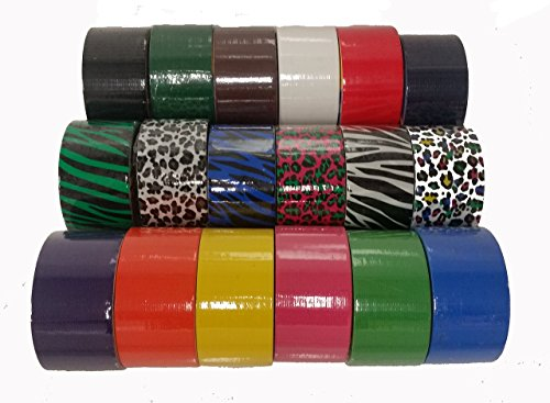18 Roll Variety Pack of Bazic Print and Solid Colors (brights and regular colors) of All Purpose