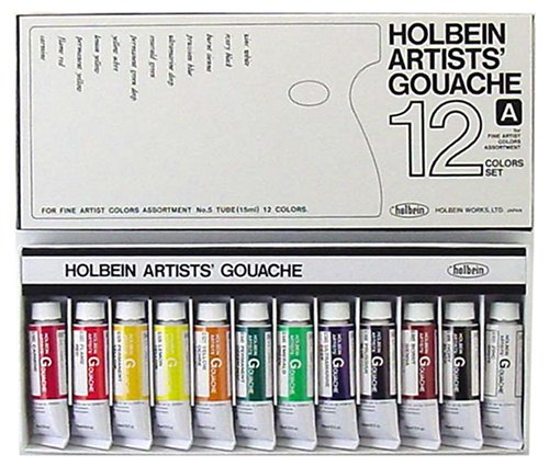 Holbein Artists' Gouache Set of 12 15 ml Tubes