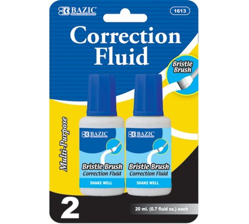 BAZIC 20ml / 0.7 fl. oz. Correction Fluid (2/Pack) (Case of 24)