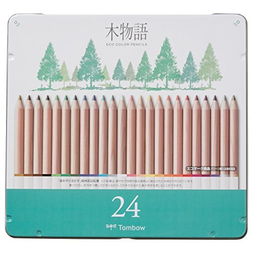 Dragonfly pencil Colored pencil S Tree story 24 colors canned CB-RS24C Japan