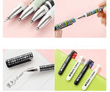 24 pcs M&G Black Colorful Black Pens Set Creative Office Stationery 0.35mm