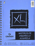 Canson XL Series Watercolor Textured Pad, Use with Paint Pencil Ink Charcoal Pastel and Acrylic,