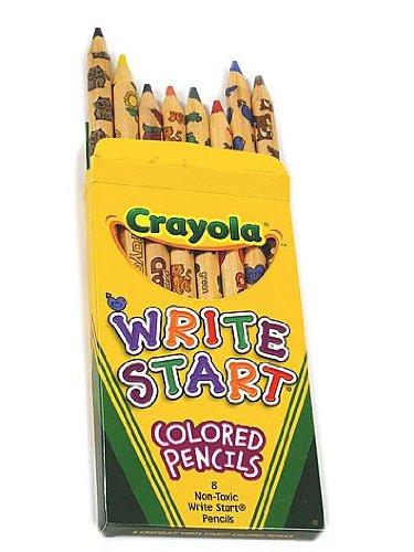 Crayola Write Start Colored Pencils box of 8 [PACK OF 6 ]