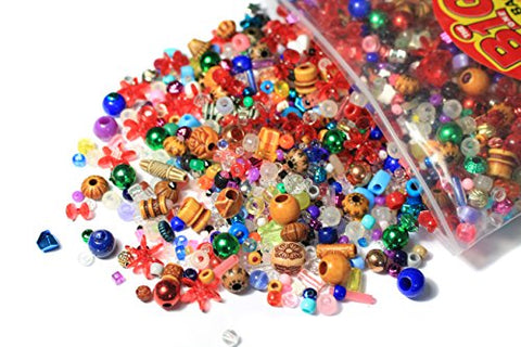 The Big One 1 pound assorted plastic beads