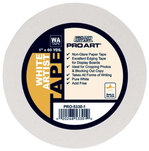Pro Art 1-Inch by 60-Yards White Artist Tape