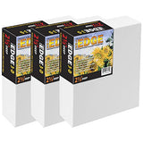 "The Edge All Media Cotton Deluxe Stretched Canvas - Paintable Edges for Frameless Artwork Presentation, Superior Priming for Richness and Purity of Paint Colors - Box of 3 - [2.5"" Deep 