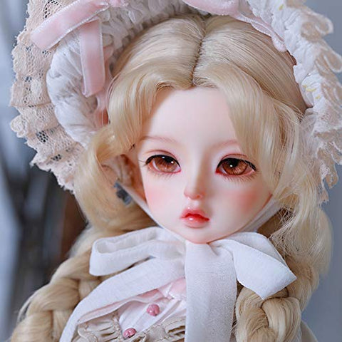 Dytxe 41.5Cm BJD 1/4 Doll Full Set Makeup Lovely and Delicate Birthday Doll Toy Doll Girl Child Joints Movable Doll Gift