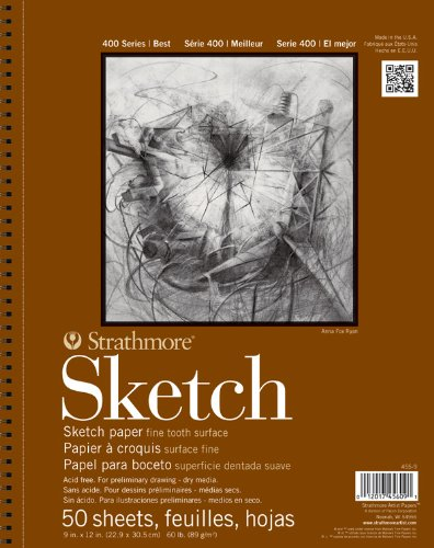Strathmore STR-455-11 50 Sheet Sketch Pad, 11 by 14""