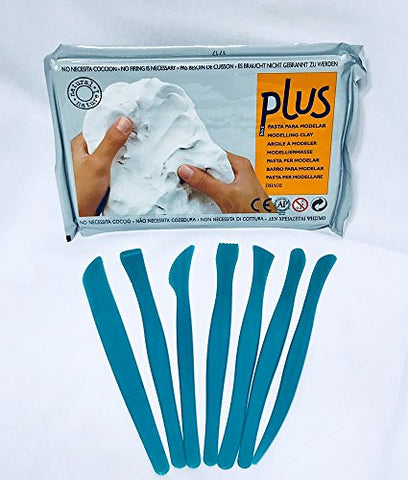 Cold Porcelain Clay and Darice Plastic Modeling Tools Bundle