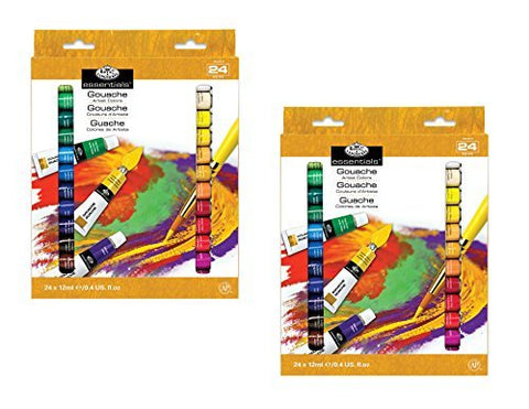 Royal & Langnickel Gouache Color Artist Tube Paint, 12ml, 24 Paints (Pack of 2 for Total of 48 Paints)