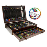 U.S. Art Supply 143 Piece-Mega Wood Box Art, Painting & Drawing Set, Now contains a Bonus Color
