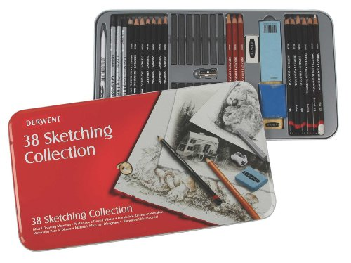 Derwent Sketching Collection, Metal Tin, 38 Count (34307)