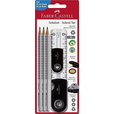 Faber Castell 217069 Large Pencil-Set with Ruler - Black
