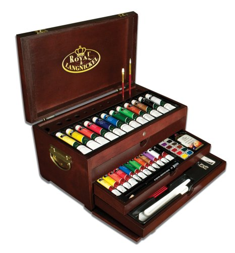Royal & Langnickel Premier Multi-Media Painting Chest, 80-Piece Art Set