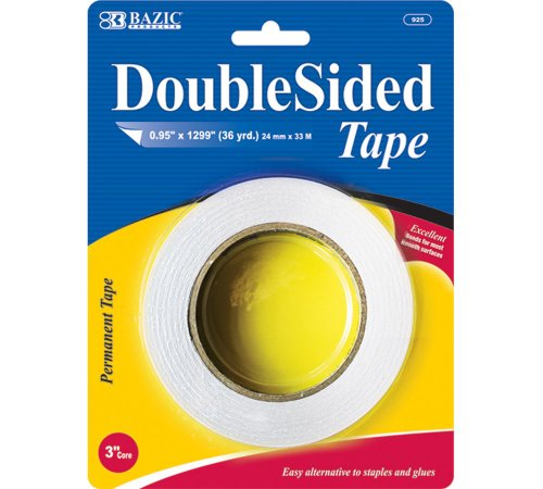 BAZIC Double Sided Tape, 0.95 x 36 Yards