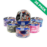Duct Tape 1.88, Multi Color Camoflage Print Decorative Duct Tape Set (36 Units)