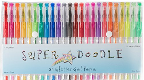Draw on Leather and Much More. Write Pack of 8 Glitter /& Scented  Gel Pens