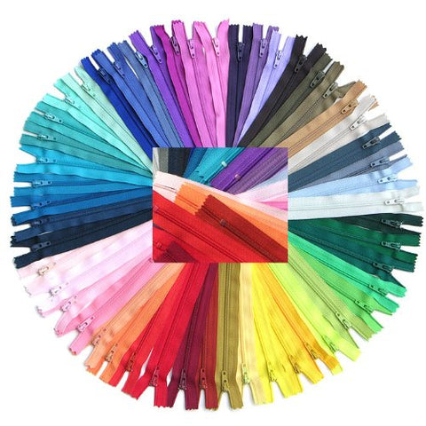 Zipperstop Wholesale YKK® #3 Skirt & Dress Zippers 16 Inch - Assortment of 25 Different Colors