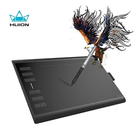 Huion Battery Free Tablet H1060P 10 x 6.25 Inch Graphic Drawing Tablet with Tilt Function 8192
