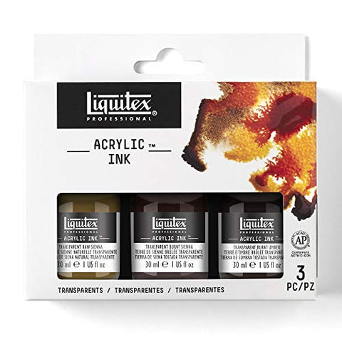 Liquitex Professional Acrylic Ink, Transparent Set