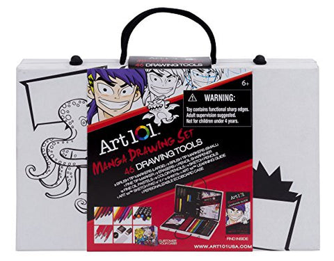Art 101 'How To' Manga Drawing Set (46-Piece)