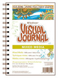 "Pro-Art 460-19 Strathmore 500 Series Visual Mixed Media Journal, 9""x12"" Vellum, Wire Bound, 34"