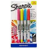 Sharpie Color Burst Permanent Markers, Ultra-Fine Tip, 4ct - Multicolor Ink